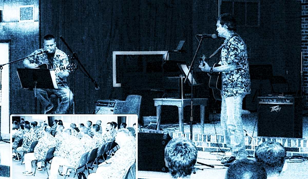 David Sloan and David Hartley jamming on a weeked at Dunklin in 2004