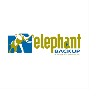 Logo Design for Elephant Backup Online Backup Services Company