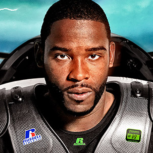 Photo Illustration for New Russell Athletic Shoulder Pads Campaign